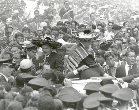 Recepción a los astronautas del Apolo 11 en México.