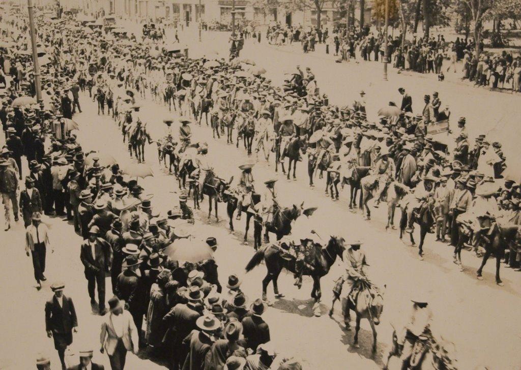 Llegada de los zapatistas a la Ciudad de México.